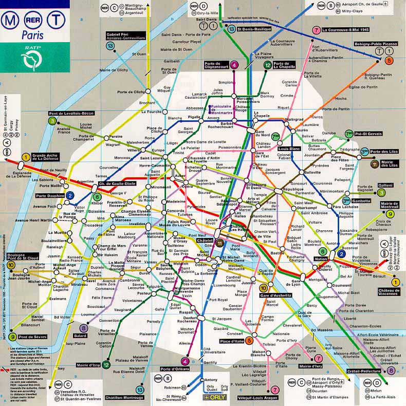 EHS French Level Unité Leçon B The Metro - French metro map